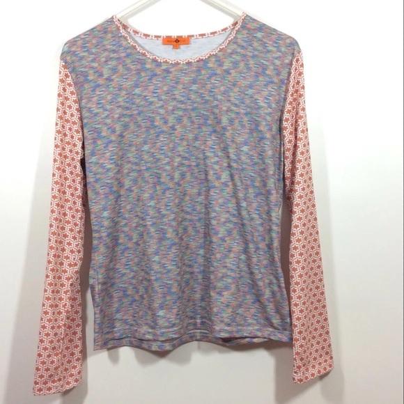 0a5977b3 Maple & Cliff Tops | Maple Cliff Long Sleeve Tee Shirt Stripe Geo ...